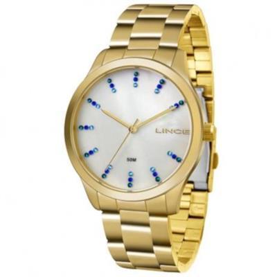 02349768044 Relógio Feminino Lince LRG4445L B1KX Analógico Pulseira de Aço Dourado