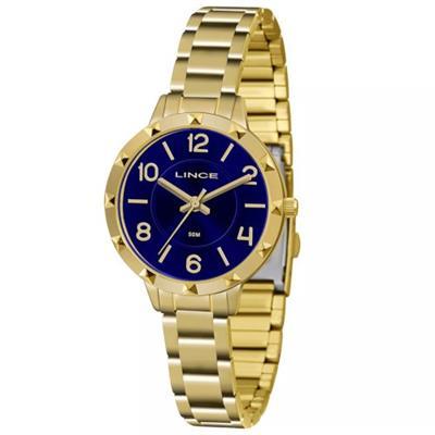 Relógio Feminino Lince LRG4503L D2KX Analógico Pulseira de Aço Dourado
