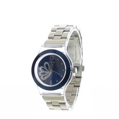 Relógio Feminino Champion CP28355K Analógico com Kit de Joias Pulseira de Aço Prateado