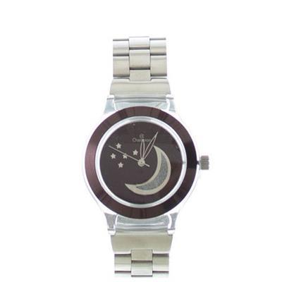 Relógio Feminino Champion CP28364K Analógico com Kit de Joias Pulseira de Aço Prateado