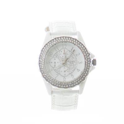a7066b852 Relógio Feminino Champion CP30093Y Analógico com Kit de Joias Pulseira de Aço  Branco
