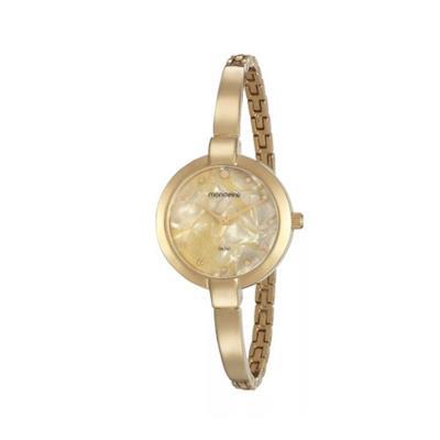 Relógio Feminino Mondaine 53621LPMVDM1 Analógico Pulseira de Aço Dourado
