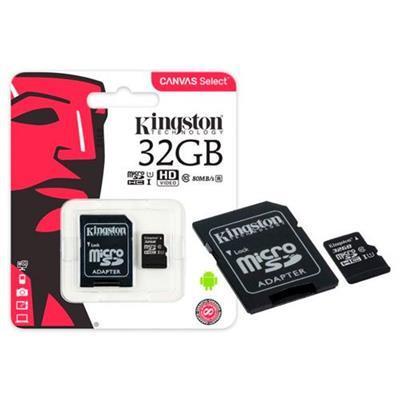 Cartão de Memória Kingston Canvas Select Micro SD 32GB