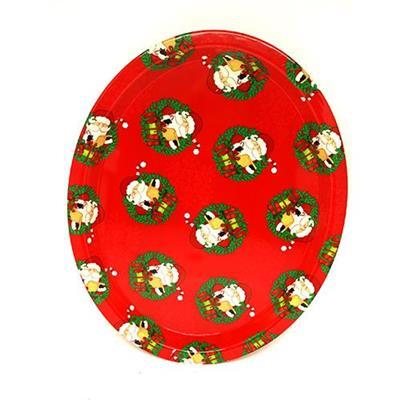 Bandeja de Natal Plástico Para Serviço de Mesa Santini 047-170645
