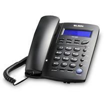 Telefone Elgin TCF3000 Identificador de Chamadas Agenda Telefônica Preto