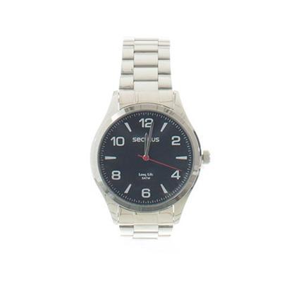 Relógio Masculino Seculus 28974G0SVNA1 Analógico Pulseira de Aço Prata
