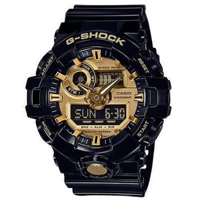 Relógio Masculino Casio GA710GB1ADR Analógico e Digital Pulseira de Silicone Preto