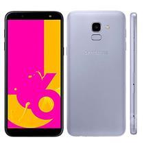 "Smartphone Samsung Galaxy J6 J600 DTV 4G 2 Chips 32GB Tela 5.6"" Câmera 13MP Frontal 8MP Android 7.1 Prata"