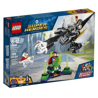 BRINQUEDO LEGO SUPER HEROES SUPERMAN & KRYPTO 76096