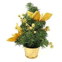 Árvore de Natal de Mesa 30cm Santini 048-575757 com Flores