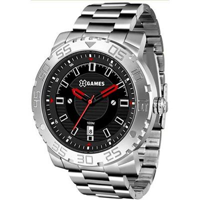 Relógio Masculino X-Games XMSS1039 P2SX Analógico Pulseira de Aço Prata
