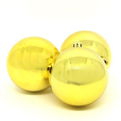 Bolas de Natal com 12 Peças Santini 048-956159SD Dourada