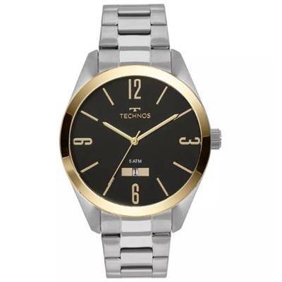 Relógio Masculino Technos 2115MNV/1P Analógico Pulseira de Aço Prata