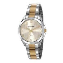 Relógio Feminino Mondaine 78749LPMVBA3 Analógico Pulseira de Aço Prateado e  Dourado 93a960434c