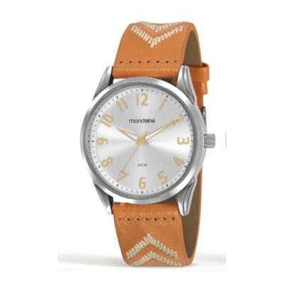 Relógio Feminino Mondaine 99348L0MVNH1 Analógico Pulseira de Couro Laranja