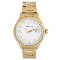 7bd1c555ae4 Relógio Masculino Magnum MA33013H Analógico Pulseira de Aço Dourado