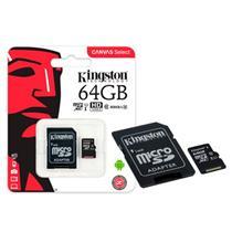 Cartão de Memória Kingston Canvas Select Micro SD 64GB