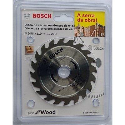 Disco de Serra Circular Bosch Eco 2608644328 D110X20T