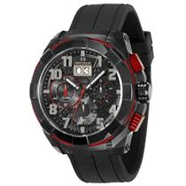 Relógio Masculino Seculus 13009GPSVPU4 Analógico Pulseira de Silicone Preto