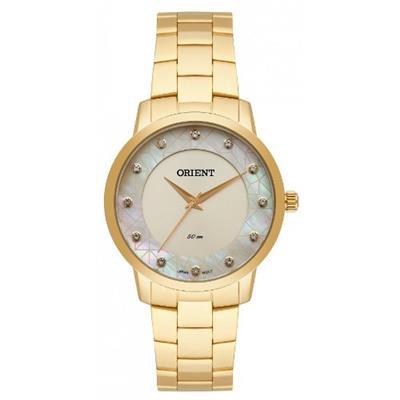 Relógio Feminino Orient FGSS0112 C1KX Analógico Pulseira de Aço Dourado