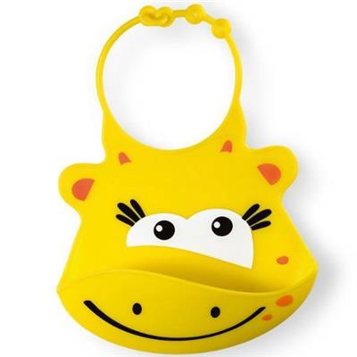 Babador de Silicone Silybib Girafa Multikids Baby BB043 Amarelo
