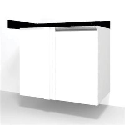 Balcão 1 Porta Rimo Florença 32606 Com Tampo MDF Branco