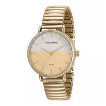 Relógio Feminino Mondaine 99160LPMVDE1 Analógico Pulseira de Aço Dourado