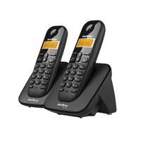 Telefone Sem Fio Intelbras TS3112 ID Alarme Agenda Identificação de Chamadas 110 V 220 V Preto