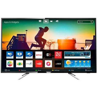 "Smart TV 50"""" LED Ultra HD Philips 50PUG6102 Entradas 4 HDMI 2 USB 60Hz Preta"