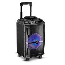 Caixa de Som Amplificada à Bateria HS Sound HSA-120B 120W com Alça e Rodas Preta