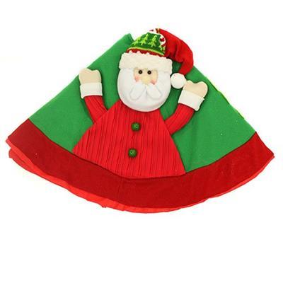 Forro para Árvore de Natal Santini Christmas 048-814725A com Papai Noel Vermelho e Verde