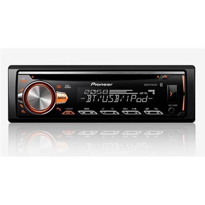 CD PLAYER AUTOMOTIVO PIONEER DEHX50BR COM CONTROLE REMOTO PRETO