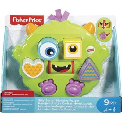 Brinquedo Monstro Quebra-Cabeça Mattel Fisher Price DYM90 Plástico