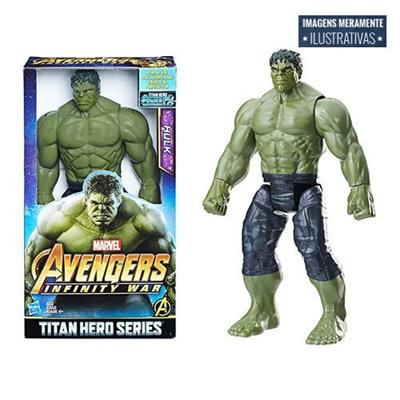 """Boneco Hulk Hasbro Vingadores E0571 Tamanho 12"""""""