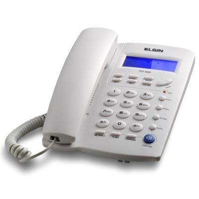 Telefone com Fio Elgin TCF3000 com Funções Mudo Flash e Rediscar Cinza