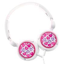 Fone de Ouvido My Style Multilaser BR419 Branco e Rosa
