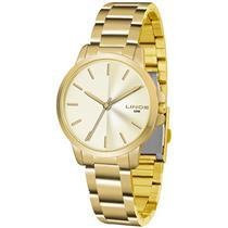 Relógio Feminino Lince LRG4482L C1KX Analógico Pulseira de Aço Dourado