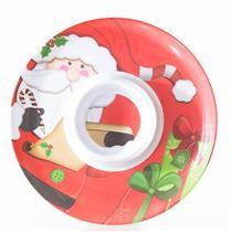 Prato Natalino Santini Christmas Plástico Melanina 066-590005SD Colorido