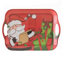 Prato Natalino Santini Christmas Plástico Melanina 066-590006SD Colorido