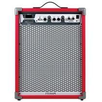 Caixa Amplificada Frahm LC650 APP 100w Vermelha