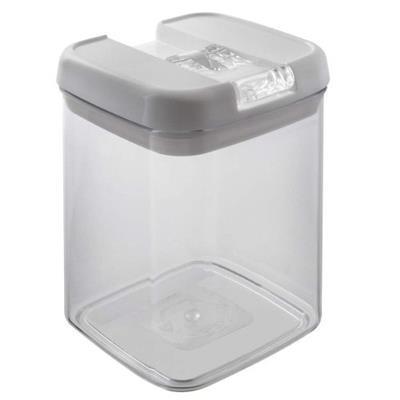 Pote Flip 1,8 Litros Brinox Quadrado 0221/309 Acrílico Transparente e Branco