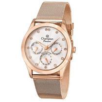 Relógio Feminino Champion CH38217Z Analógico Pulseira de Aço Rosé