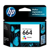 Cartucho para Impressora HP 664 F 6V28AB Tricolor
