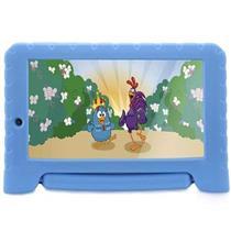 Tablet Infantil Galinha Pintadinha Multilaser NB282 Câmera 2MP Memória Interna 8GB Azul