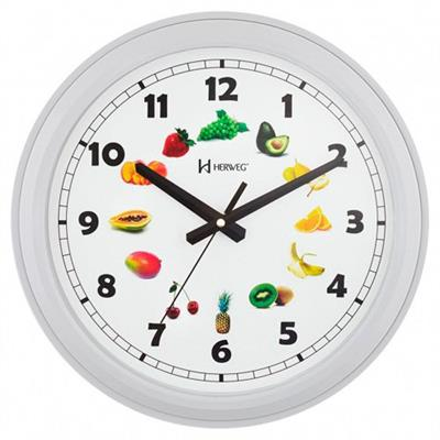 9d5325ec29b Relógio de Parede Herweg 6627 243 Estilo Decorativo Branco - Relógio ...