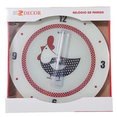 Relógio de Parede Fashion Galinha D'Angola Relobraz 944 29cm