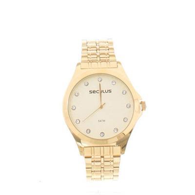 Relógio Feminino Seculus 23630LPSVDS1 Analógico Pulseira de Aço Dourado