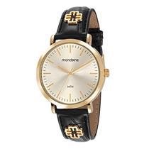 Relógio Feminino Mondaine 53653LPMVDH1 Analógico Pulseira de Aço Dourado