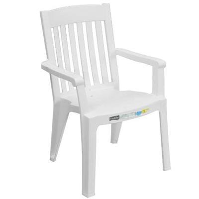 Cadeira de Plástico Grosfillex Miami V 49277104 Branco