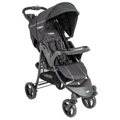 Carrinho de Bebê Ômega Lenox 5203 Capota Retrátil Encosto Reclinável Preto